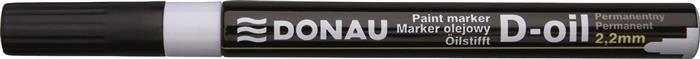 Marker permanent Donau,varf rotund,2.2mm,alb