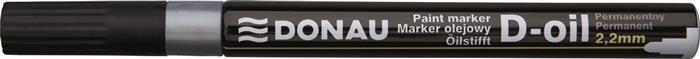 Marker permanent Donau,varf rotund,2.2mm,argintiu