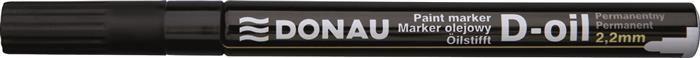 Marker permanent Donau,varf rotund,2.2mm,negru