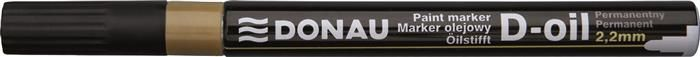 Marker permanent Donau,varf rotund,2.2mm,auriu