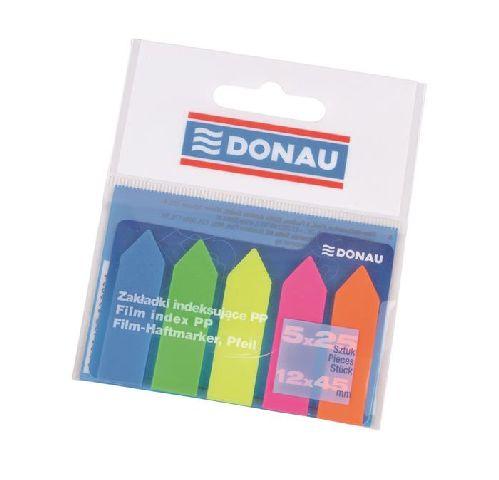 Index plastic Donau,42x12mm,5x25file,sageata