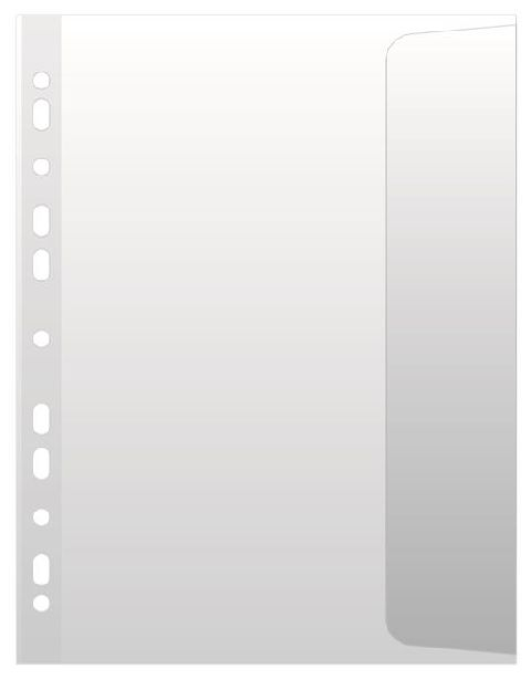 File plastic A4,100microni,clapa later,10buc/set