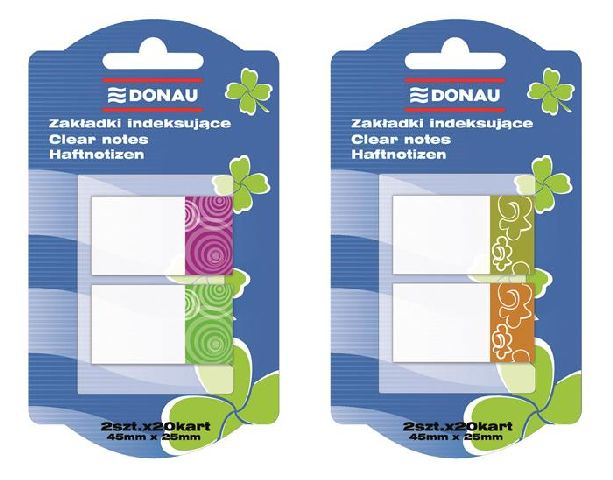 Index plastic Donau,25x45mm,2x20file/culoare