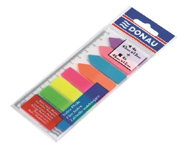 Index plastic Donau,12x45mm,8x25file/culoare