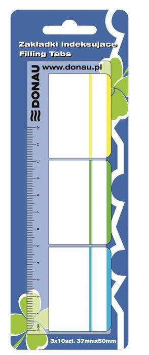 Index plastic Donau,37x50mm,3x10file,rigla