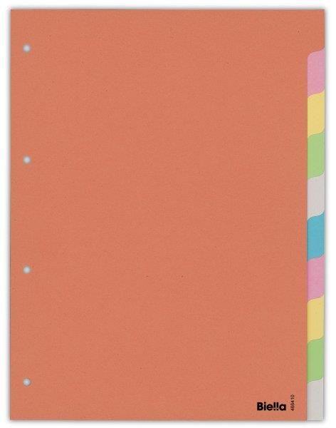 Separatoare carton A4,index color 10buc/set
