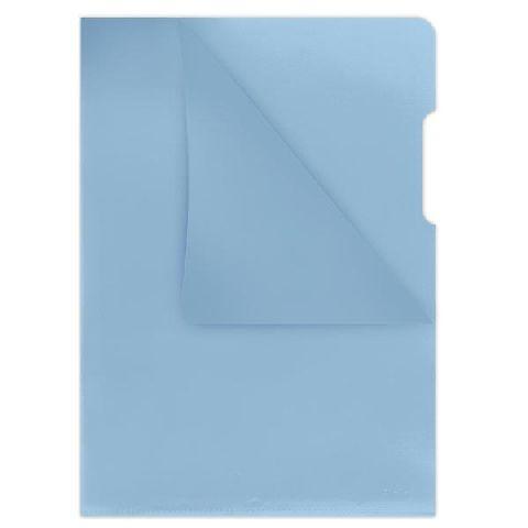 Mapa in L,160microni,albastru transparent,10b