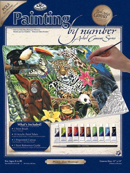 Set Pictura pe panza Montaj zoo