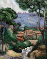 Set Pictura pe panza Vila pe coasta