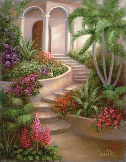 Set Pictura pe panza Gradina tropicala