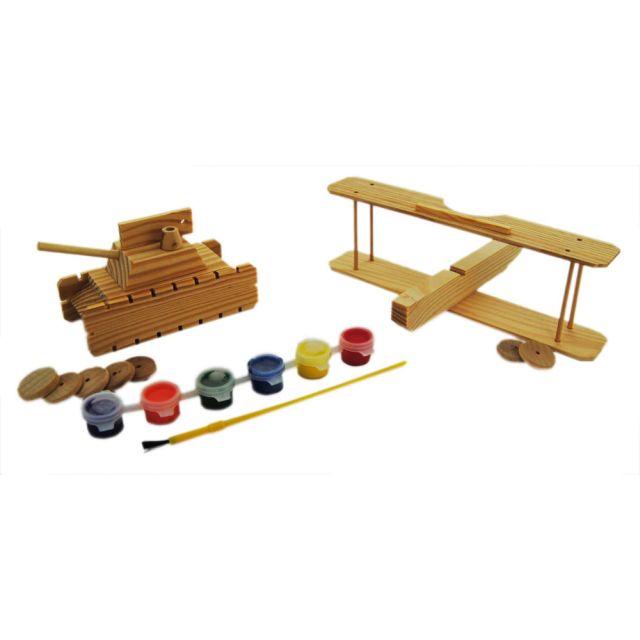 Set creativ puzzle 3D,lemn,2 in 1