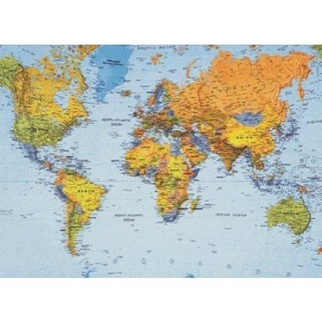 Harta Lumea politica/fizica,160x120cm