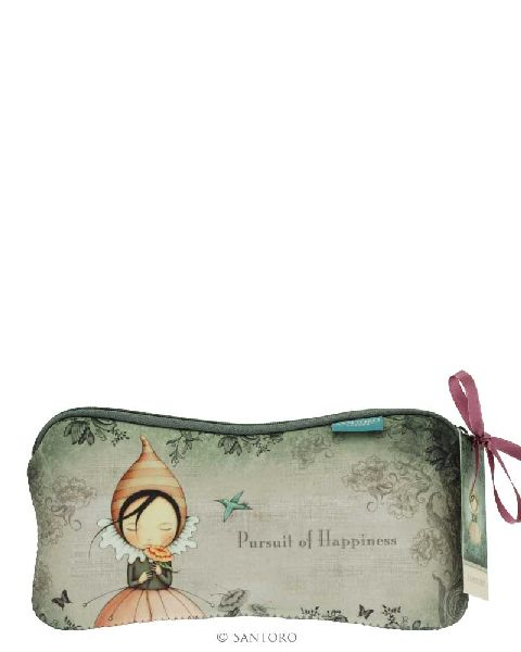 Pouch,22x11x1cm,Pursuit of Happiness