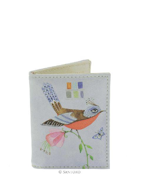 Etui card 8x10cm,Watercolour Birds