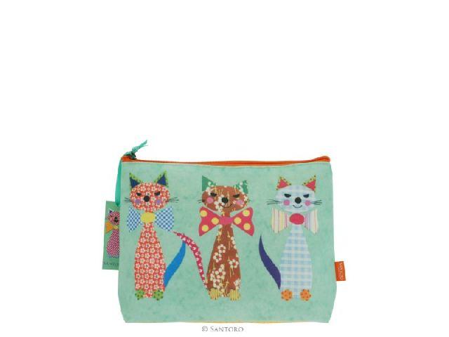 Geanta cosmetice 23x19x10cm,Cats in Bowties