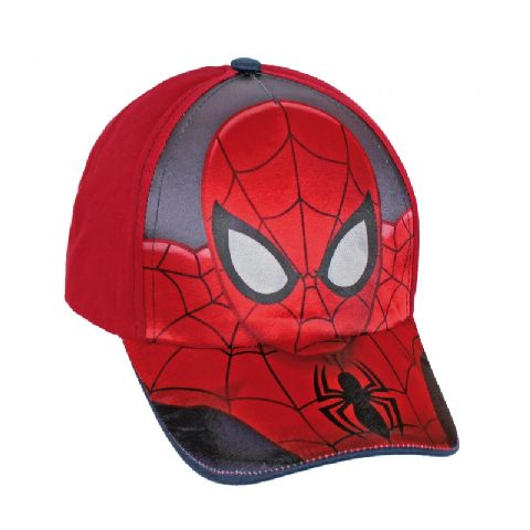 Sapca rosie,marimea 52-54,Spiderman