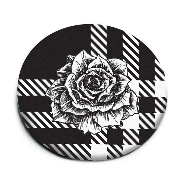Oglinda,black,Floral Chess
