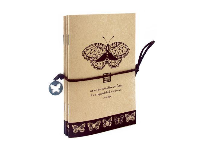 Carnetel 9x14cm,30f,3buc/set,Butterfly