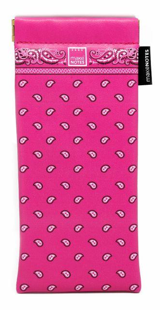 Etui pt ochelari 18.5x9cm,pink,Bandanas