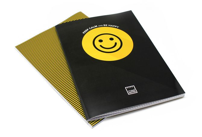 Caiet A4,40f,dictando,yellow,Keep Calm