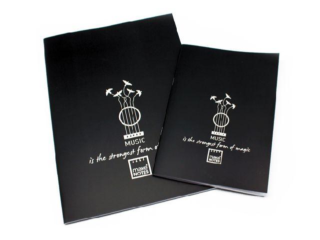 Caiet A4,40f,black,Music