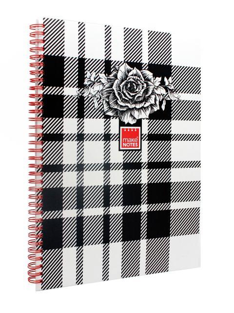 Caiet A4,80f,spira,dictando,Floral Chess
