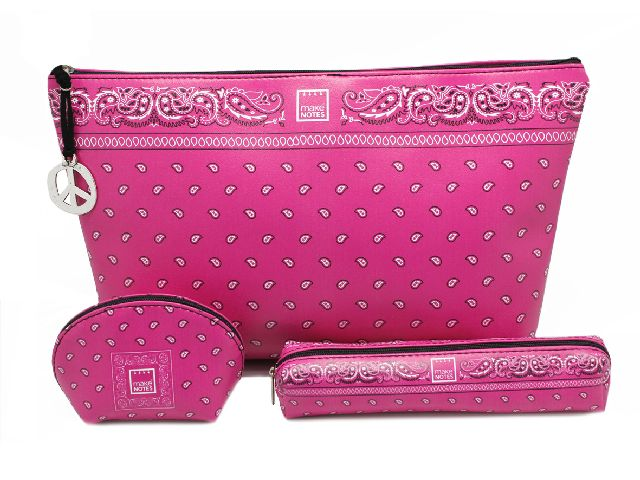 Geanta cosmetice 23.5x16.5,pink,Bandanas