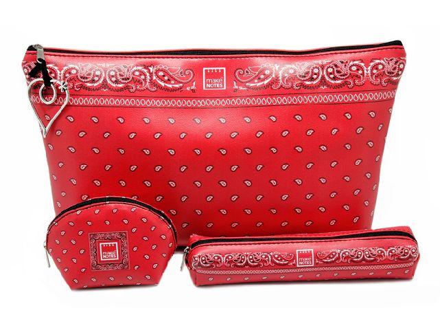 Geanta cosmetice 23.5x16.5,red,Bandanas