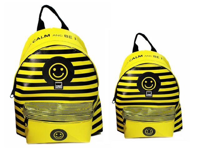 Rucsac 30x24x10cm,yellow,Keep Calm