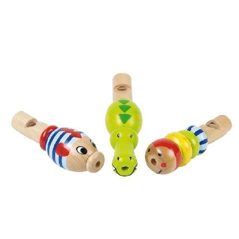 Fluier lemn,mini,animale,Goki