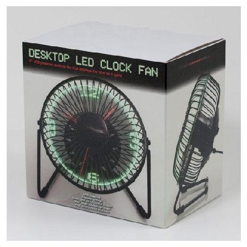 Ceas ventilator cu Led-uri pentru birou