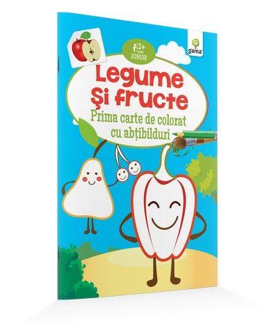 LEGUME SI FRUCTE/ CARTE DE COLORAT CU ABTIBILDURI. JUNIOR.15
