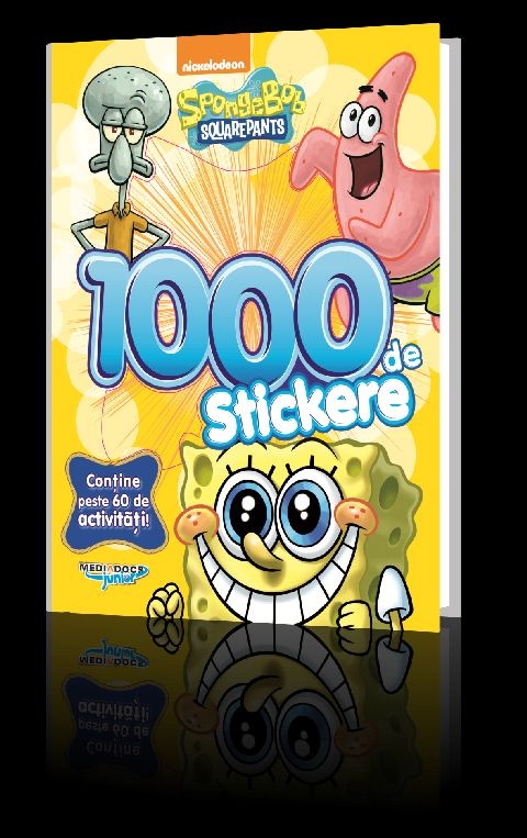SPONGEBOB CARTE CU 1000 STICKERE