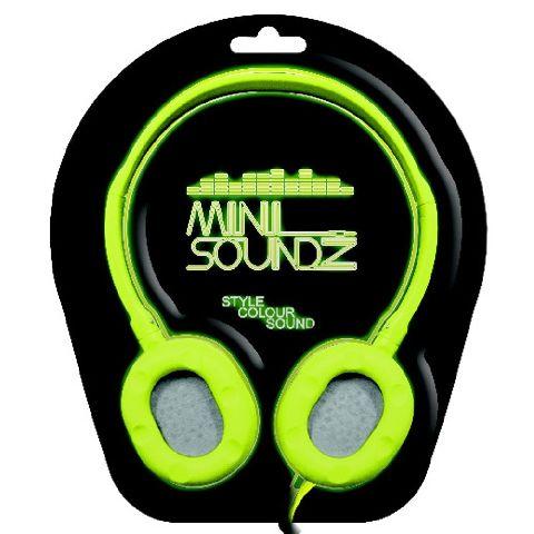 Casti audio mini, verde