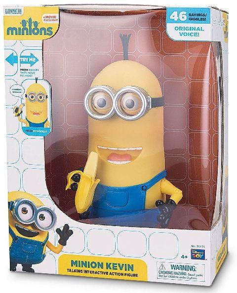 Figurina Minions,interactiva,Kevin,cu banana