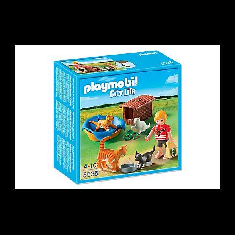 Playmobil-Familie de pisici cu cos