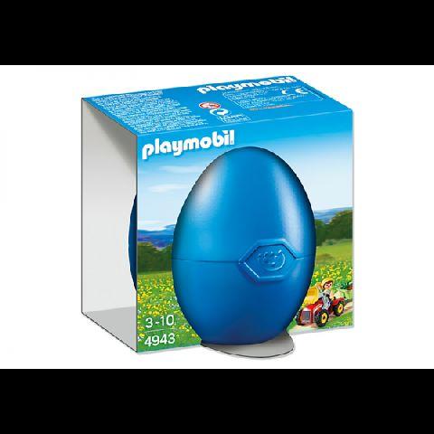 Playmobil-Copil cu tractoras