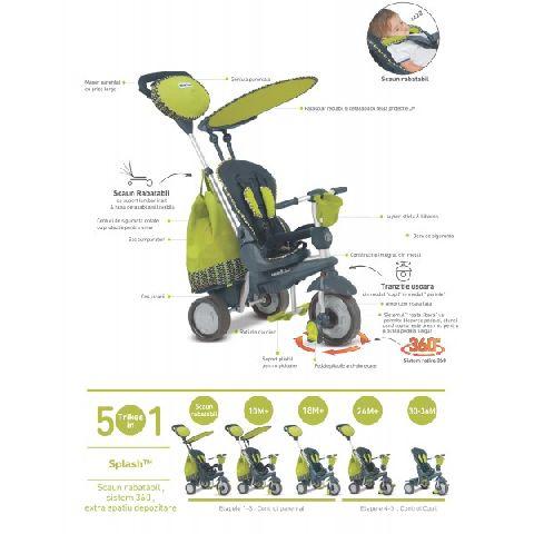 Smart Trike Splash,5 in 1,10M-36M,verde