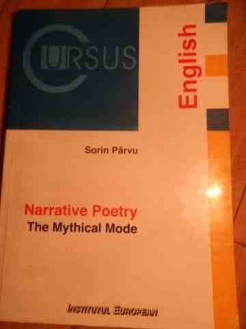 NARRATIVE POETRY-THE MYTHICAL MODE