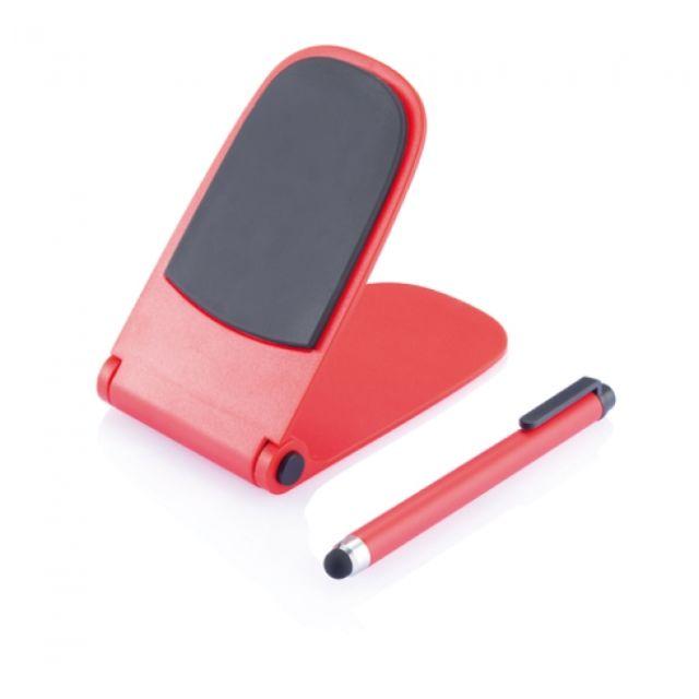 Suport Telefon cu Creion Stylus, rosu