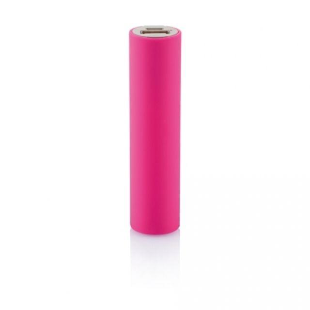 Baterie portabila 2200mAh cilindru, roz