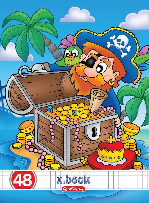 Caiet A5,48file,Pirates,matematica