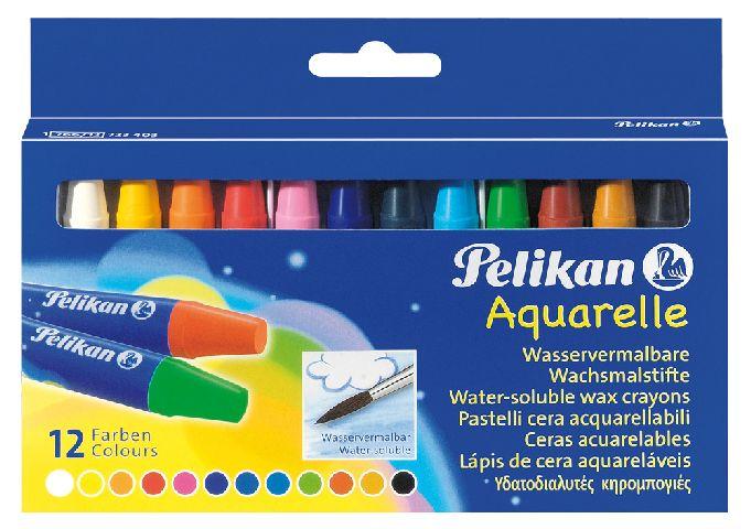 Creioane cerate,12b/set,Pelikan Aquarelle