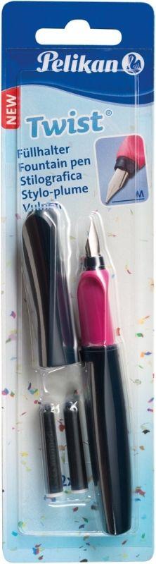 Stilou,pic,2rez,Pelikan Twist,albast/roz