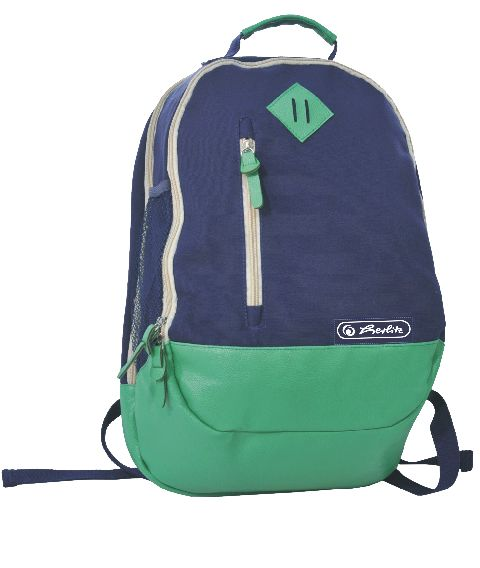 Rucsac Herlitz,30x46x17cm,bleumarin/verde