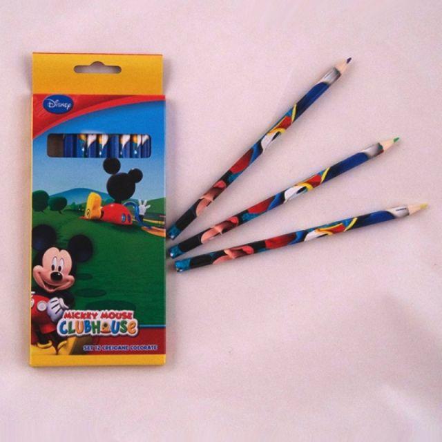 Creioane colorate 12buc/set,Mickey