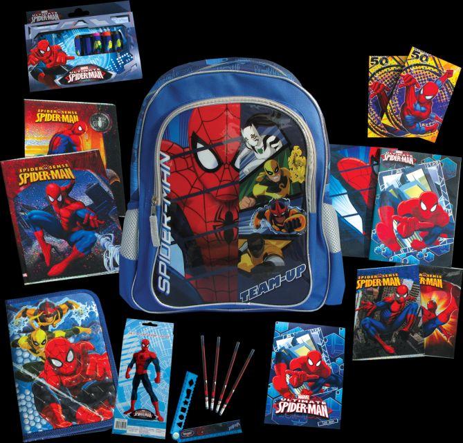 Ghiozdan echipat,Spiderman