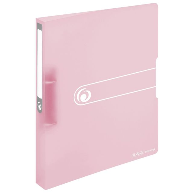 Caiet mec EO A4 PP,2inele,25mm,roz pastel