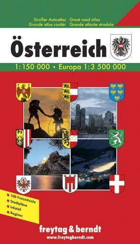 AUSTRIA GREAT ROAD ATLAS WITH CD-ROM, HA