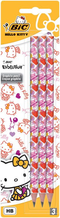 Creion grafit Bic Hello Kitty,3b/set